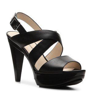 Audrey Brooke Abraham Leather Heel Sandal Shoes